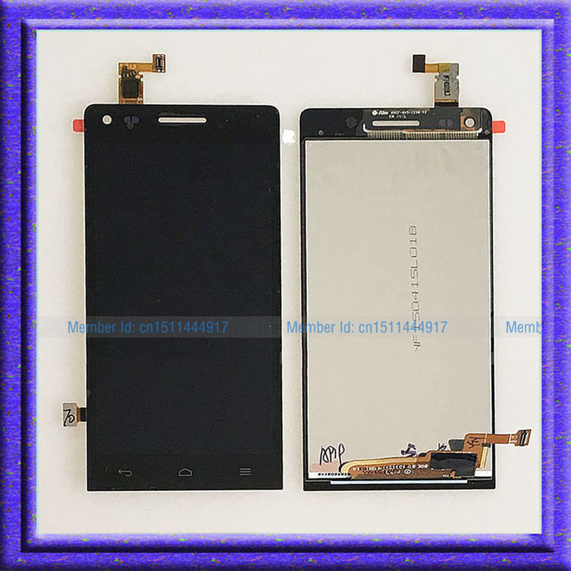 Black LCD Display Screen + Touch Digitizer Glass Assembly replacement For Huawei Ascend G6 for huawei ascend p7 p7 l10 l09 lcd display touch glass digitizer frame assembly replacement screen white black