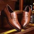 Новый 2017 мужская Платье Свадебная Обувь Мода Стиль Человек Из Натуральной Кожи Бизнес Обувь Социальные Sapato Мужской Оксфорды Квартиры Обувь