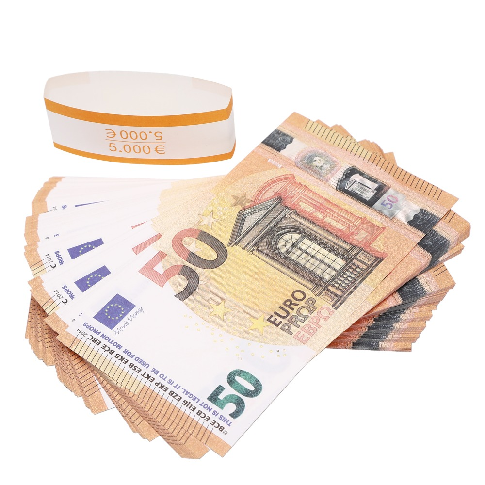 50 euro Play Money euro prop money total 5000 euro Realistic Motion Picture Money Full