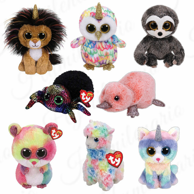 Ty Beanie Boos 15CM Unicorn cat lion spider Plush Beanie Baby Plush Stuffed  Doll Toy Collectible Soft Toys Big Eyes 01cd3c3c410
