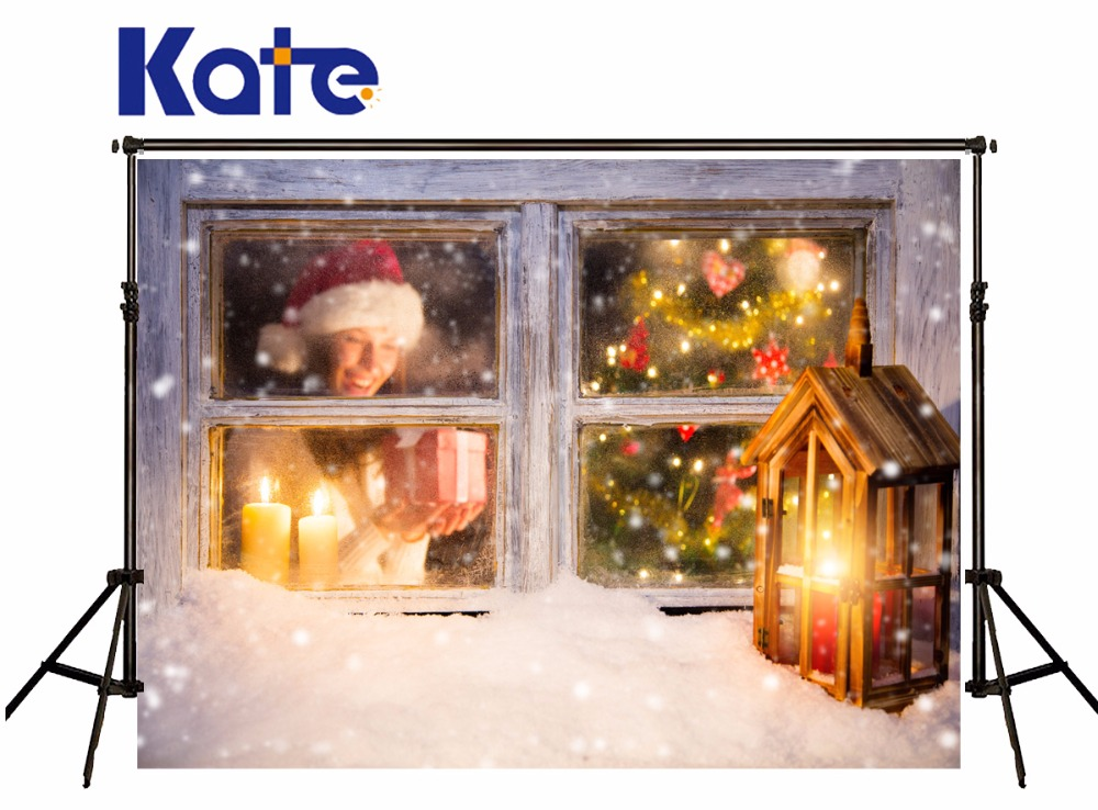 Kate Christmas Photography Backdrops Window Santa Claus Christmas Tree Backgrounds For Children Photography Studio Backgrounds inflatable cartoon customized advertising giant christmas inflatable santa claus for christmas outdoor decoration