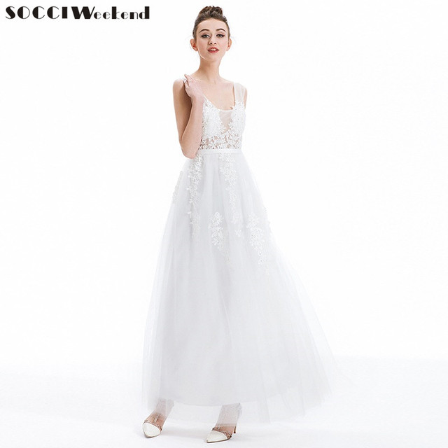 SOCCI Weekend 2017 Gray Lace Beading Long Evening Dress Sexy backless Formal bride Elegant banquet Dresses wedding Party Gowns