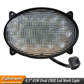 65W Oval LED Work Lights 6.5inch x 4.5inch Led Agriculture Tractors Lights For 7720,7820,7920,7630,7730,7830,7930,8130,8230 x1pc