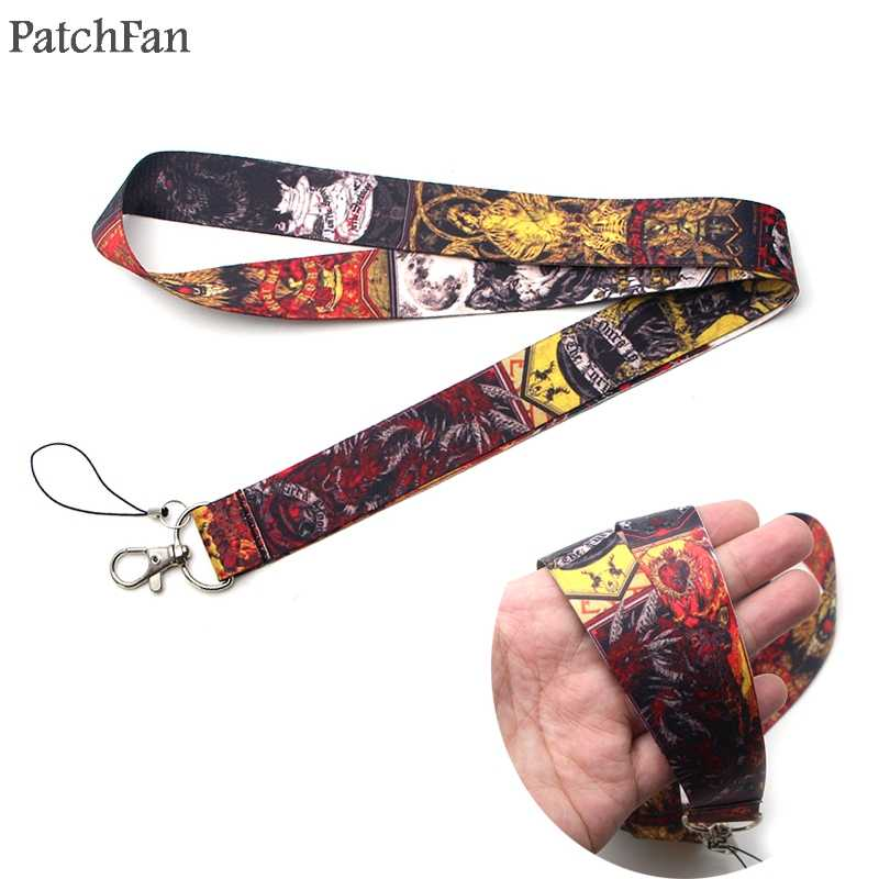 Patchfan Game of thrones keychain lanyard webbing ribbon neck strap fabric para id badge phone holders necklace accessory A1179