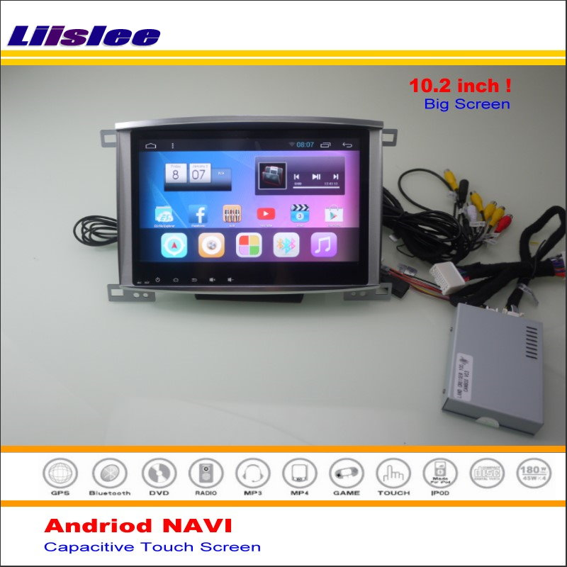 Liislee Car Android GPS Navigation System For Toyota Land Cruiser 100 / For Lexus LX 470 - Radio Stereo Multimedia No DVD Player