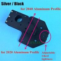 Atualização De Alumínio Y-eixo X-eixo Do Motor titular bracket para 2040 Perfil De Alumínio impressora Tronxy 3D V- peças slot para