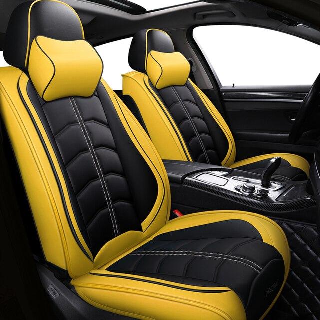 Sport Leder auto sitz abdeckung Für Toyota Corolla Camry Rav4 Auris Prius Yalis Avensis SUV auto zubehör auto styling kissen