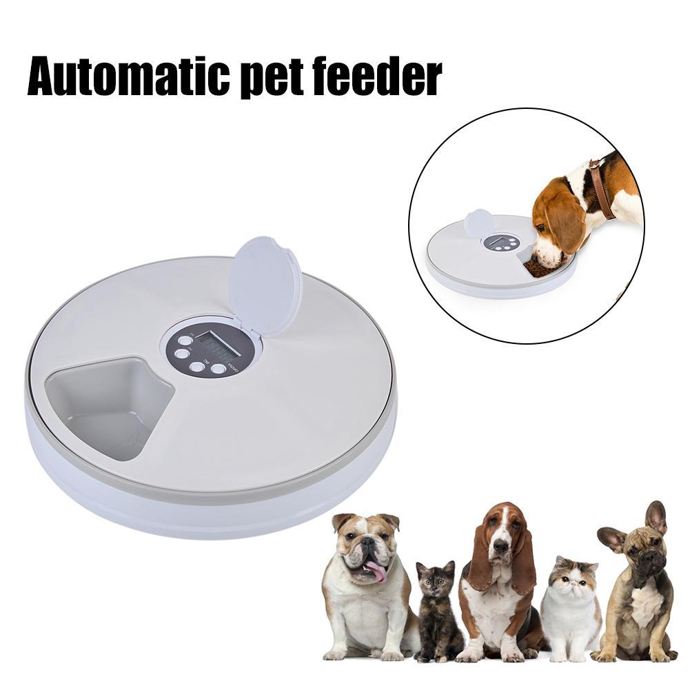 สัตว์เลี้ยงอัตโนมัติ Feeder จับเวลา 6 Grids ช่องเก็บอาหารสำหรับสุนัขแมวกระต่ายและสัตว์ขนาดเล็กแห้งและอาหารเปียกแผ่น-ใน ที่ให้อาหารสุนัข จาก บ้านและสวน บน AliExpress - 11.11_สิบเอ็ด สิบเอ็ดวันคนโสด 1
