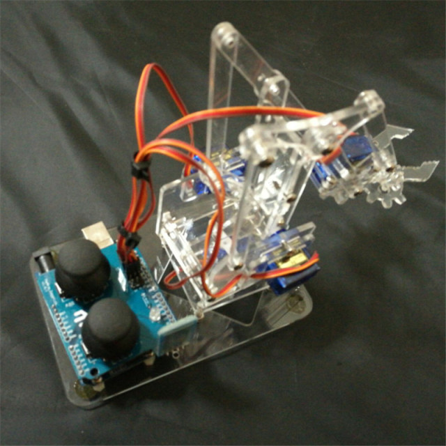 DIY mearm acrylic rocker Bluetooth full Kit MeArm joystick Deluxe Kit Robotic Arm - Servos Structural Parts, Fasteners