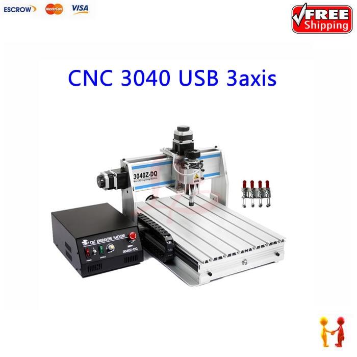 Desktop mini cnc machine 3040 mach3 engraving router with Ball screw  USB port  цены