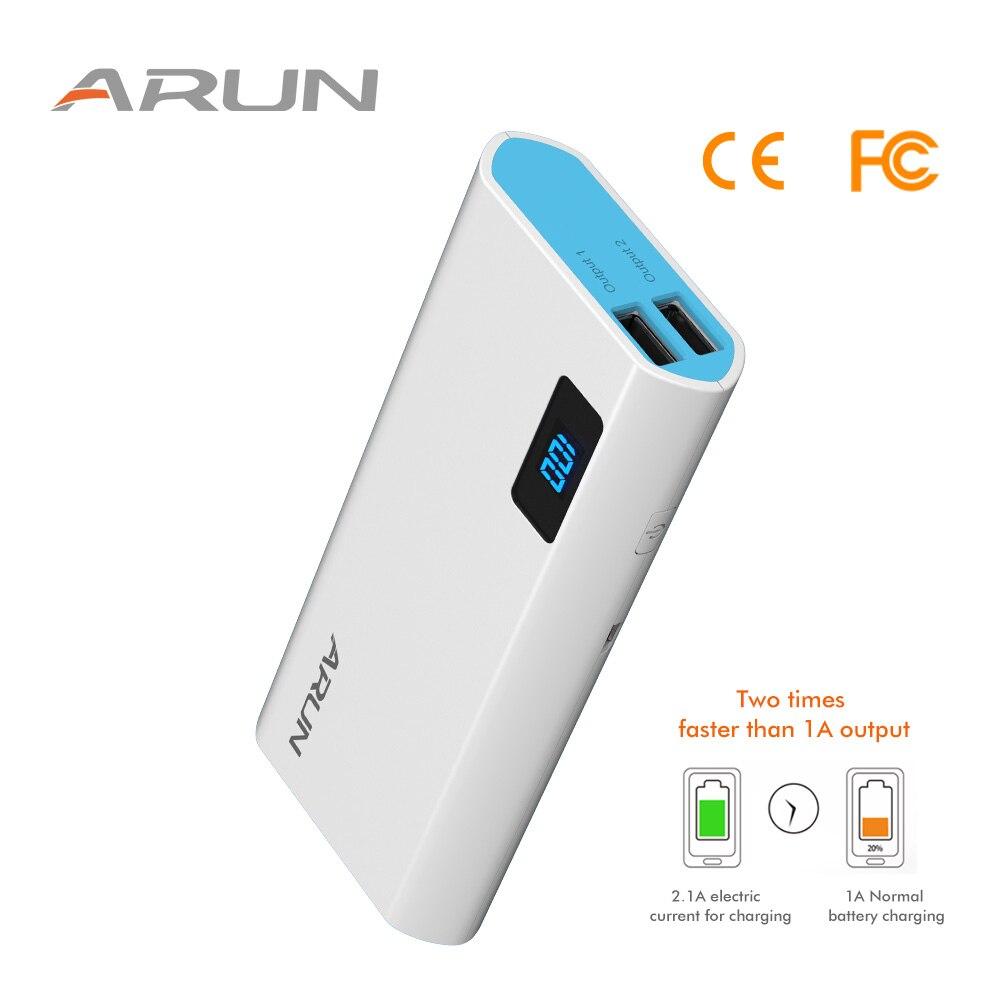 Arun 10000 mAh carga portátil para teléfonos batería y50 cargador tipo C entrada externa Paquetes cargador de baterías de coche