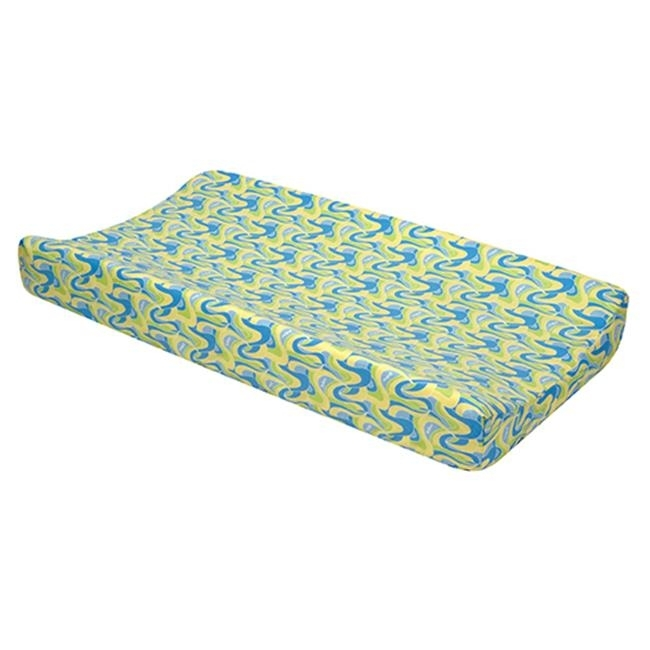 Trend-Lab 30473 Changing Pad Cover - Dr. Seuss Blue Oh The Places YouLl Go