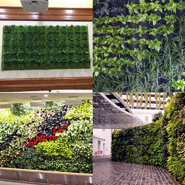 New Novelty Home Decoration Garden Planter Wall Mounted Planting Flower  Grow Bag 72 Grids Vegetable