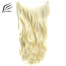 5Pieces/Lot jeedou Wavy Synthetic Invisible Line Flip Hair Extension 60cm 100g Natural Convenient Without Clips Wear Comfortably(China)