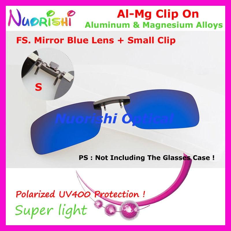 10 шт. сплава al-mg поляризованные Очки очков 7 цветов UV400 линзы клип на для малого и среднего Размеры зажимы cp07 - Цвет линз: FS Mirror Blue