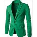 Бесплатная доставка многоцветной серии хит цвет небольшой воротник дизайн мужской версии простой кнопки льняной костюм
