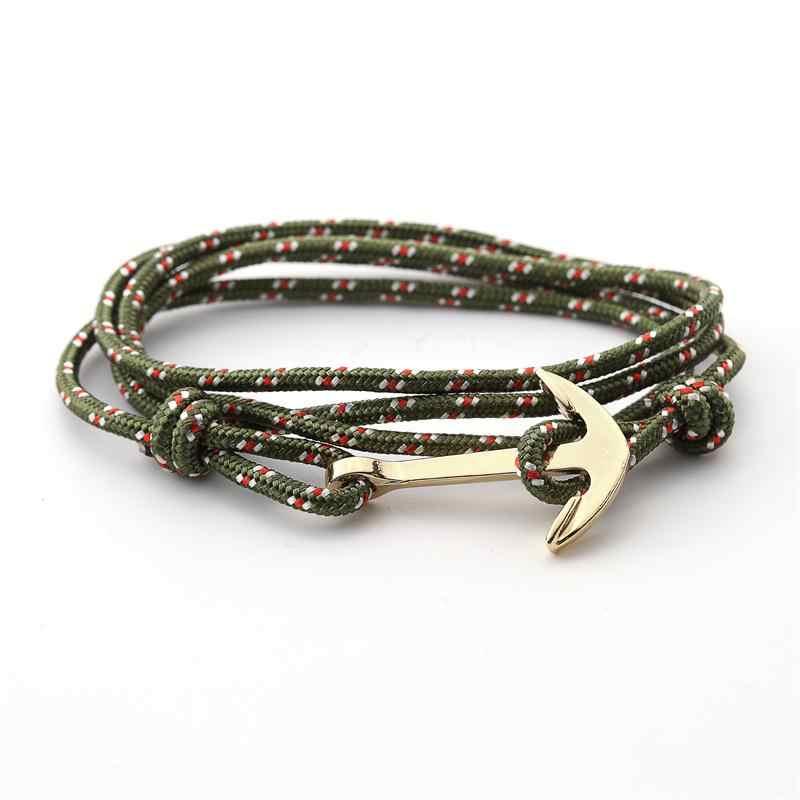 2019 nowy dobry bransoletka z kotwicą ze stopu wielowarstwowe piony bransoletka dla kobiet i mężczyzn bransoletki przyjaźni wysokiej jakości