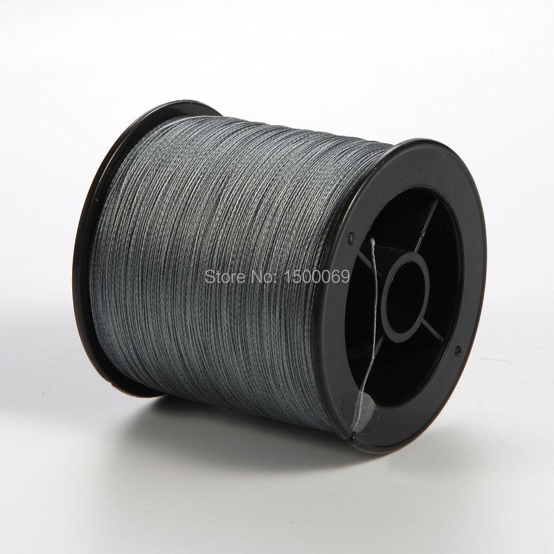 High quality fishing line multifilament 300M 4x Pe fiber braided line for sea fishing Grey color fishing tool line 6LB-80LB