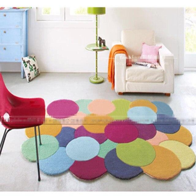 Красочные нерегулярные гетеросексуальные искусство Спальня ковер гостиной журнальный столик коврики Толстая круг