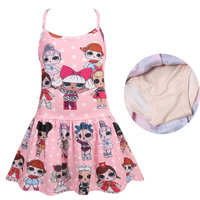d8b1fbc071 3-10Y New baby girls one pieces swimsuit bikini cartoon princess dress lol  dolls bathing