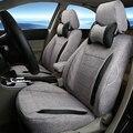 Подголовник автомобиля Чехлы для Volkswagen VW Caddy Льняной Ткани Обложка Сиденья Протектор Аксессуары Для Интерьера Черный Подушки Сиденья Автомобиля Крышка
