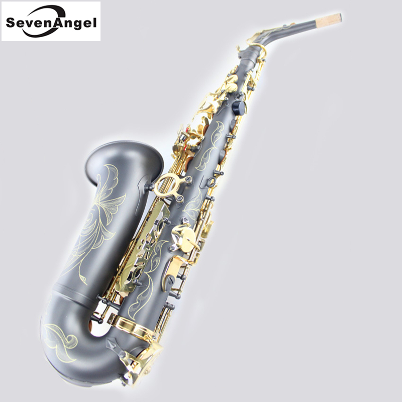 frosted Golden Saxophone alto Eb Wind Instrument Sax Western Instruments Black saxofone alto Professional Musical Instrument alto eb falling tune e sax wind instrument saxophone western instruments saxofone saxe alto professional musical instrument