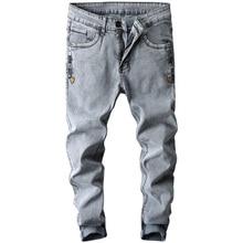 цены на Fashion Men Jeans Business Casual Stretch Slim Jeans Classic Trousers Denim Pants Designer Trousers Casual skinny Straight pants  в интернет-магазинах