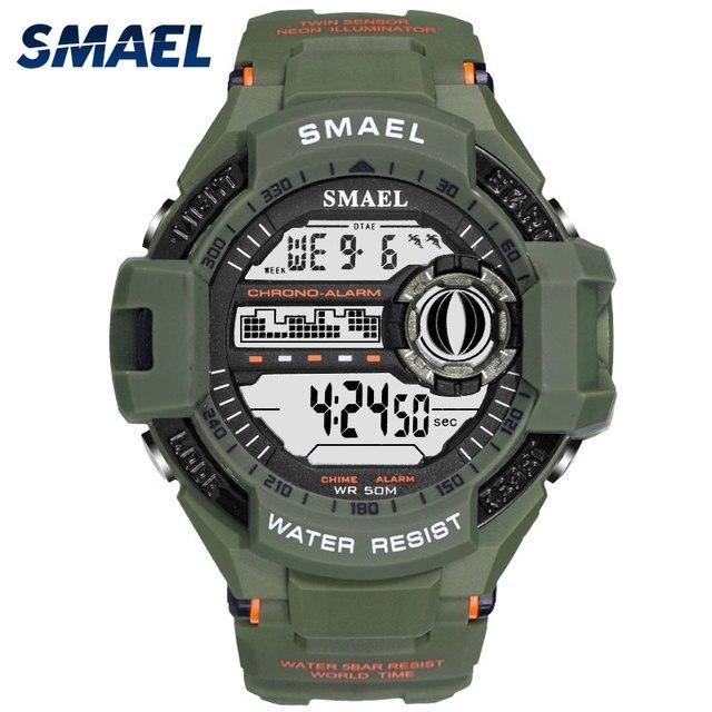 b6a1a79a38d7 Relojes deportivos para hombre de lujo de marca superior reloj Digital LED  militar para hombre Relojes
