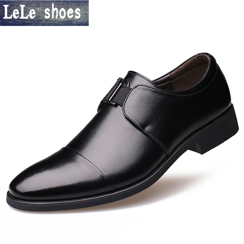 2017 New Brand Italian Designer Derby Shoes Mens Dress Shoes Genuine Leather Pointed Toe Business Formal Shoes Luxury Flats leisure footwear new 2016 suede european style leather buckle shoes mens luxury brand pointed toe italian dress shoes for men