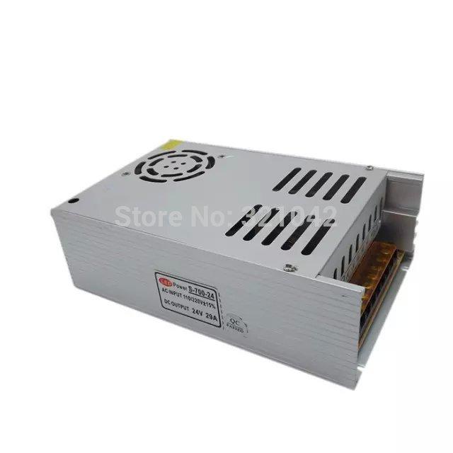 Switching Power Supply 700W DC24V 29A Transformer 110/220V AC Input to 24V DC SMPS