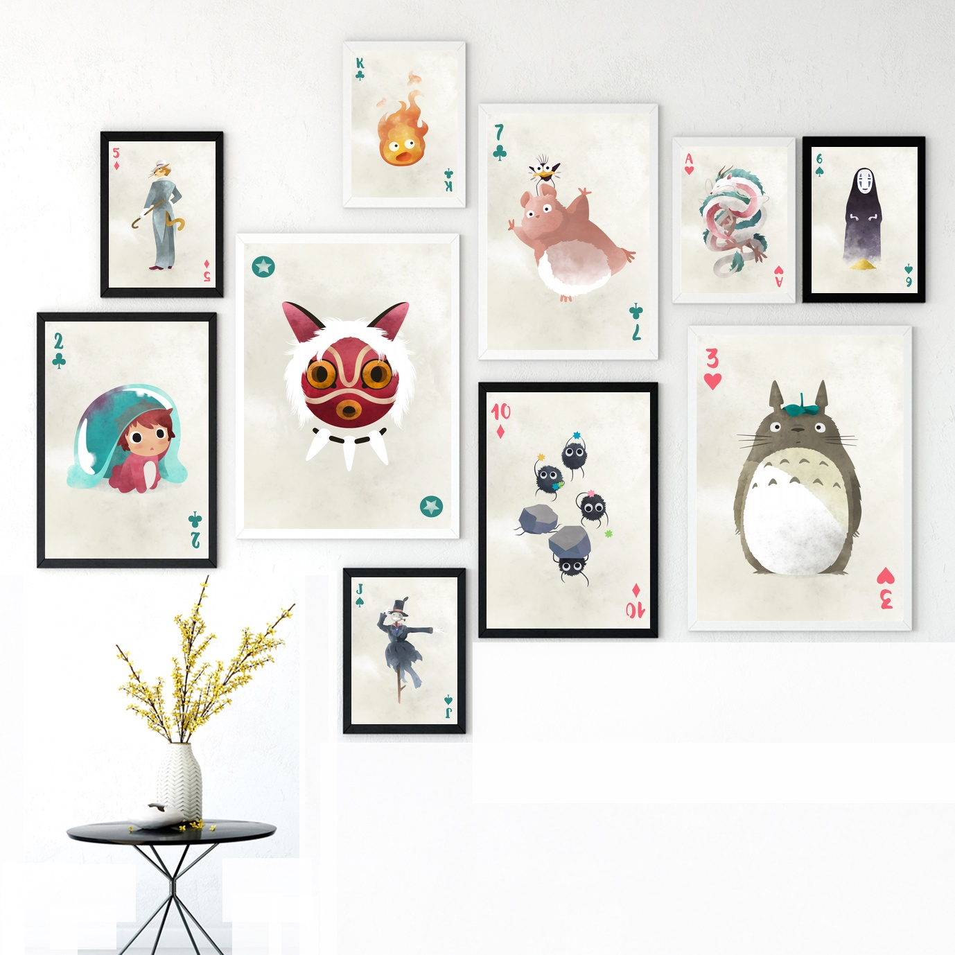 Ghibli Characters font b Anime b font Canvas Posters Painting Wall Art Decorative Home Decor