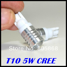 External Lights 2pcs/lot Free Shipping Car Lights T10 led light W5w Led ,car Bulbs 194 ,5w Cree chips High Power