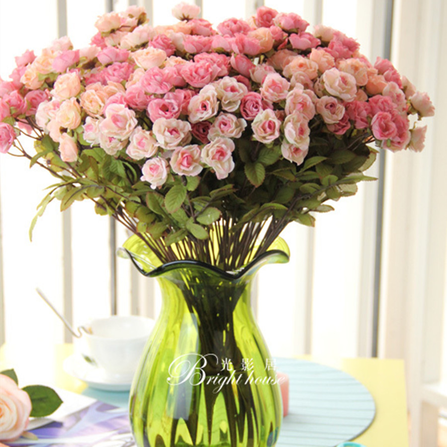 Wedding Flower Decortion Large Victoria Rose Artificial Flowers