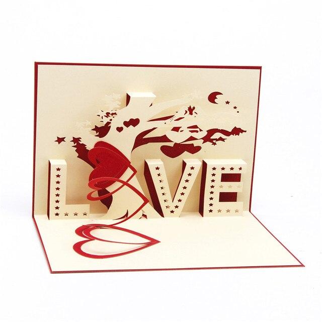 Heart tree laser cut origami paper 3d pop up cards with love heart tree laser cut origami paper 3d pop up cards with love greeting m4hsunfo