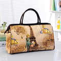 Women Bag 2016 Summer Style Polyester Lady Print Women Travel Bag Big Capacity Luggage Duffle Bags OS-ME-030