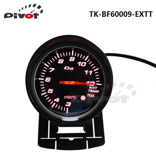 PIVOT -HQ 60mm DF BF Car Meter Exhaust Gas Temp Gauge EXT Meter Red and White Light TK-BF60009-EXTT