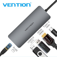 Vention USB C Adapter USB-C to HDMI 3.0 HUB Gigabit RJ45 PD Thunderbolt 3 for MacBook Galaxy S9/S8 Type Converter