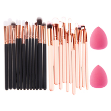 12Pcs Rose Gold Makeup Brushes Blending Pencil Foundation Eye Shadow Brush Set Eyeshadow Eyeliner Brush