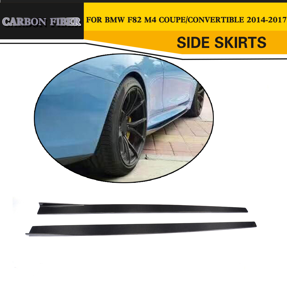 Para BMW F80 M3 F82 F83 M4 Coupe Sedan Carro De Fibra De Carbono Avental Saia Lateral 2015 2016 2017 Estilo Do Carro