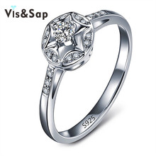 Eleple Elegant Stars Rings For Women wedding engagement Ring AAA cubic zirconia jewelry White Gold color accessories VSR071 eleple classic wedding rings for women cubic zirconia white gold color ring gifts for lovers engagement jewelry supplier vsr013
