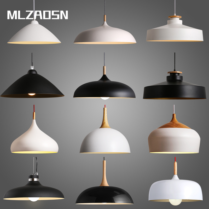 Ceiling Lights & Fans Mlzaosn Nordic Dining Table Modern Minimalist Japanese-style Living Room Lamp Restaurant Bedroom Lamps Black White Pendant Light Attractive Appearance