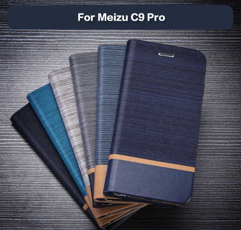 Pu Leather Wallet Case For Meizu C9 Pro Business Phone Case For Meizu C9 Pro Flip Book Case Soft Tpu Silicone Back Cover