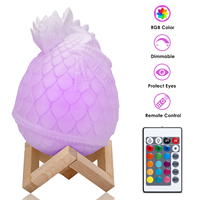 Geoeon 2019 new LED dragon egg light 3D printing lamp bedroom gift remote control 16 color plate dragon egg night light A534