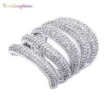 Personalidad diseño hueco anillos para las mujeres chapado en oro anillos grandes anillos femeninos de Vacaciones regalos de cumpleaños