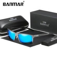 BANMAR Square Polarized Sunglasses Men Aluminium Magnesium Driving Sun glasses Male Goggles Shades Oculos De Sol Masculino 8021 цена и фото