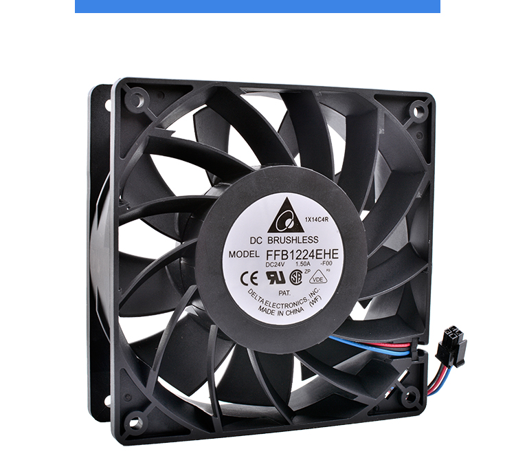 New and original FFB1224EHE 12cm 120mm 12038 24V 1.50A Double ball air volume inverter cooling fan