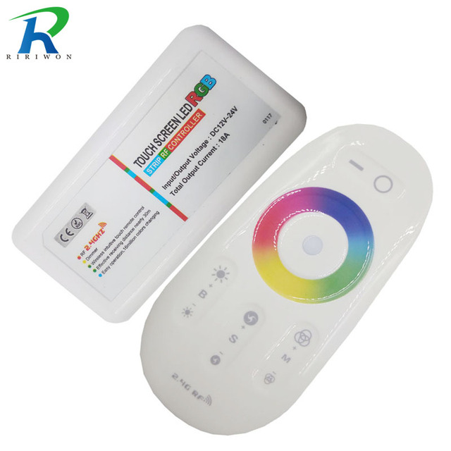 a71908525c3 RiRi won RF remote controller mlight switch wireless touch panel controller  DC12v For RGB LED Strip Lighting 3528 5050 and lamps
