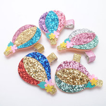 New Hot-air Balloon Hair Clip Big Glitter Hairpin Cute Baby Girls Barrette Accessories Gift