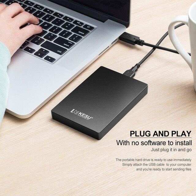 """KESU HDD 2.5"""" External Hard Drive 320gb/500gb/750gb/1tb/2tb USB3.0 Storage Compatible for PC, Mac, Desktop, Laptop, MacBook 5"""