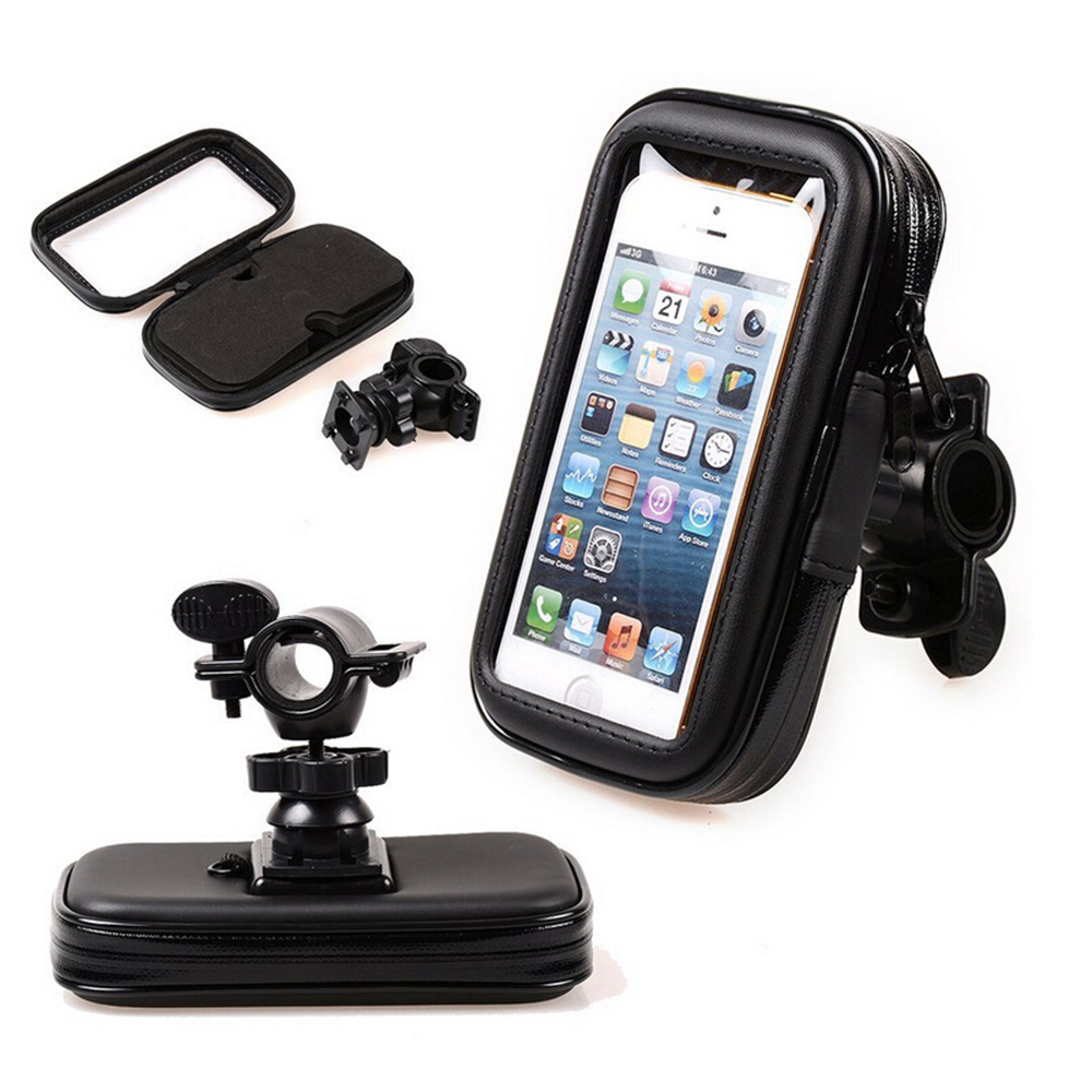 Bicycle Motorcycle Phone Holder telephone Support For Moto Stand Bag For Iphone X 8 Plus SE S9 GPS Bike Holder Waterproof Cover-in Side Mirrors & Accessories from Automobiles & Motorcycles